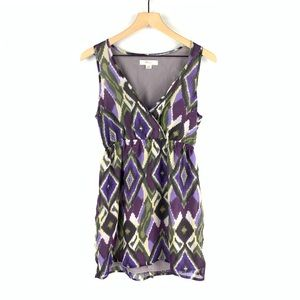 Forever21 Purple Black Faux Wrap Mini Dress Sz M
